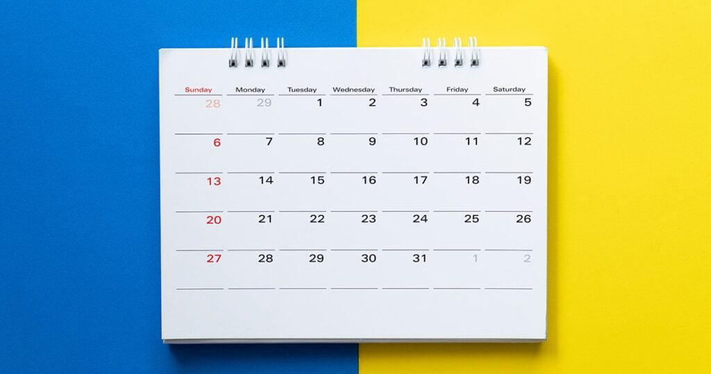 blog post calendar