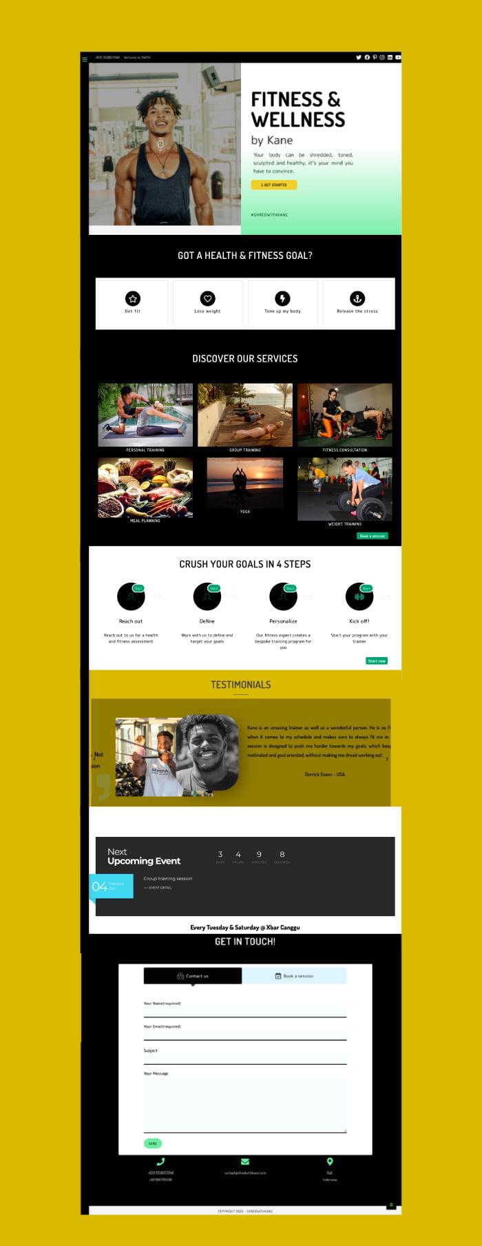 Portfolio - website design (swkfit)